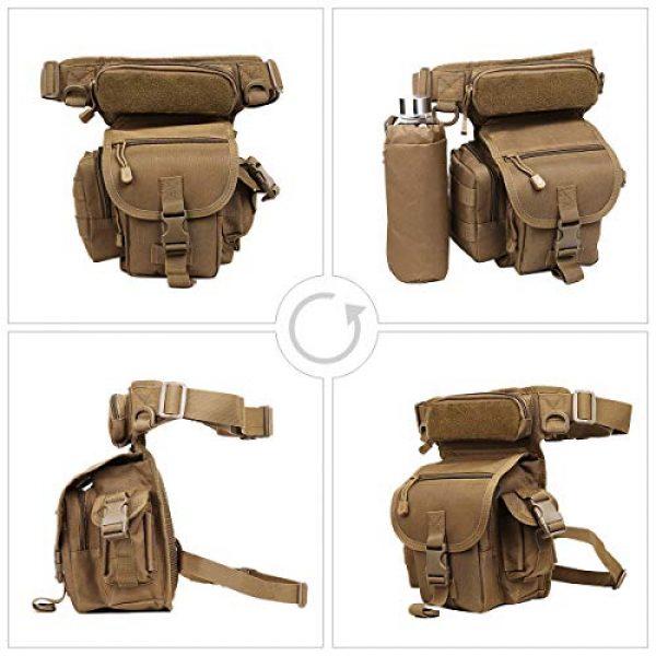 Eshow Tactical Backpack 7 Eshow Men's Drop Leg Pouch Tools Bags Tactical Leg Bag Fanny Pack Thigh Bags Bike Cycling Hip Bag Canvas Waist Packs