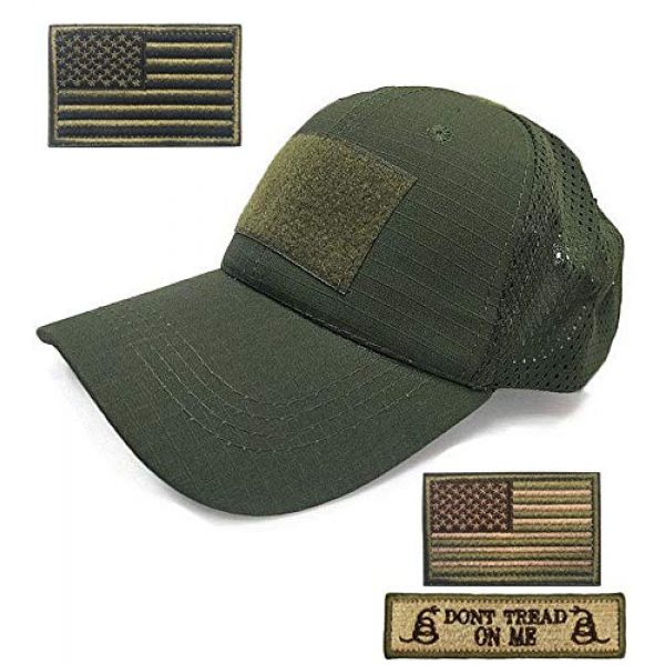 DOngRWF Tactical Hat 1 DOngRWF Outdoor Sport Hat Adjustable Strap Flex Air Mesh Tactical Cap Include 3 Pieces Tactical Military Patches