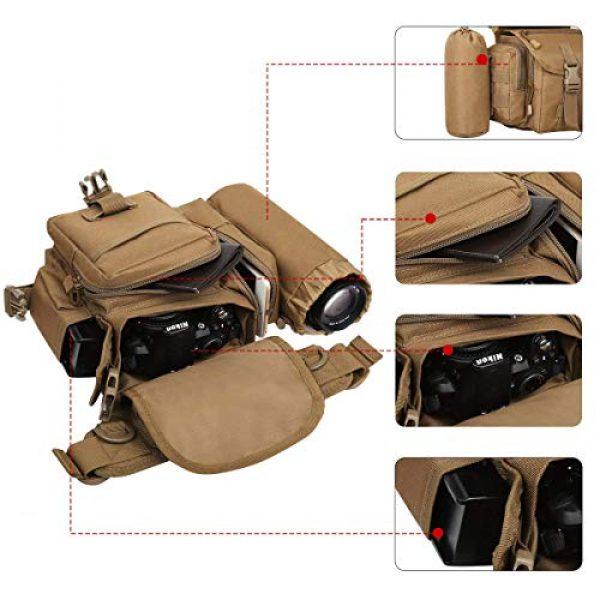 Eshow Tactical Backpack 3 Eshow Men's Drop Leg Pouch Tools Bags Tactical Leg Bag Fanny Pack Thigh Bags Bike Cycling Hip Bag Canvas Waist Packs