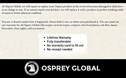 Osprey Global Rifle Scope 7 Osprey Global CP3-9x42MDG Compact Illuminated MIL dot Glass Reticle Riflescope, 3-9x 42mm, Matte Black (3-9x 42mm)