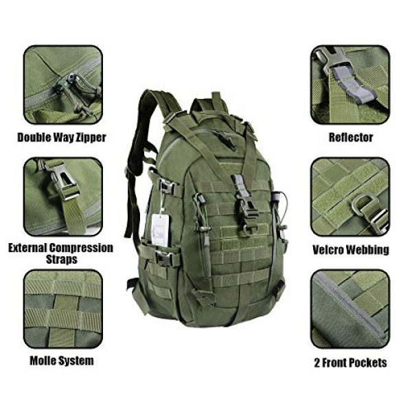 LHI Tactical Backpack 5 LHI Military Tactical Backpack for Men and Women 45L Army 3 Days Assault Pack Bag Large Rucksack with Molle System