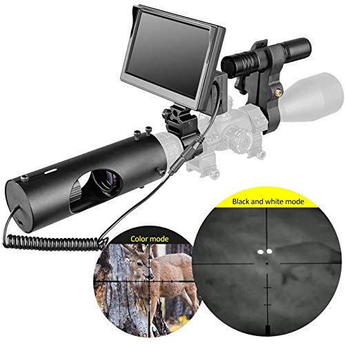 TTHU Rifle Scope 5 TTHU Rifle Scopes DIY Digital Night Vision Scope for Rifle Hunting with HD Camera and 5-Inch Portable Display Screen for Hunting Scopes