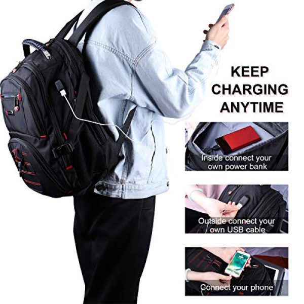 YuHeng Tactical Backpack 3 YuHeng Extra Large Backpack for Men, Water Resistant Travel Business Hiking Backpacks with USB Charging Port fits 17 Inch Laptop