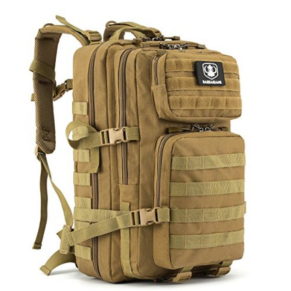 Barbarians Tactical Backpack 1 Barbarians Upgraded 35L Tactical Molle Backpack, Military Assault Pack Rucksack for Outdoor Hiking Camping Trekking Hunting