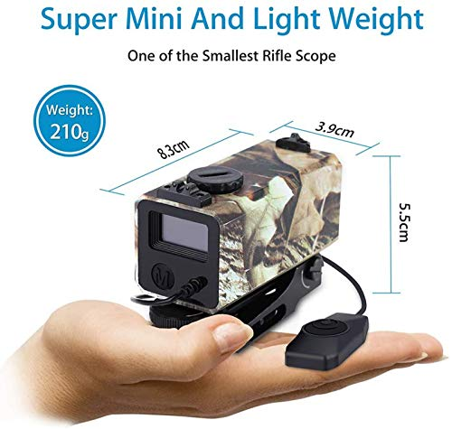 TTHU Rifle Scope 6 Tactical Outdoor Hunting Rangefinder Rifle Scope Sight Target Riflescope Mate Distance Meter 700M with Rail