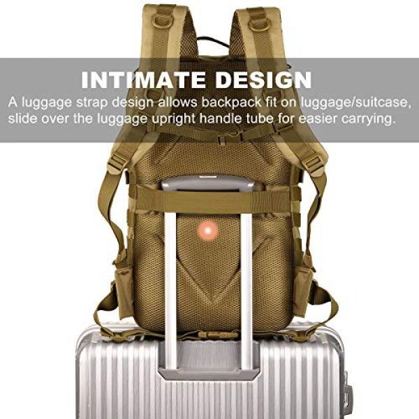 Protector Plus Tactical Backpack 4 Protector Plus Tactical Backpack MOLLE Military Assault 3 Daypack Army Pack Bug Out Bag (Rain Cover & Patch Included)