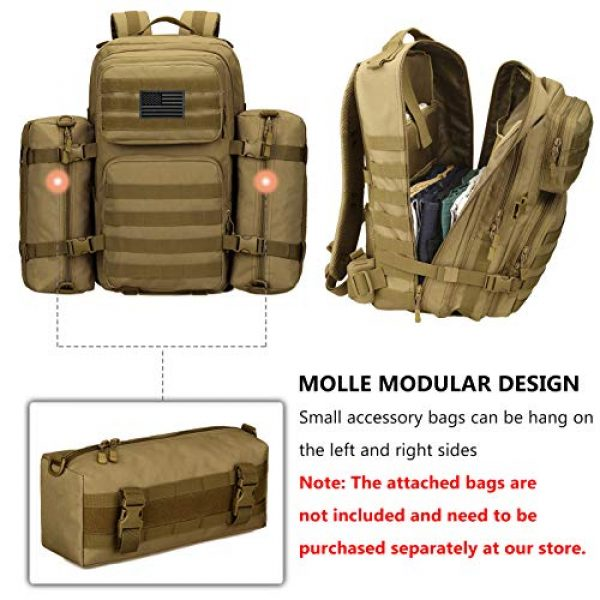 Protector Plus Tactical Backpack 7 Protector Plus Tactical Backpack MOLLE Military Assault 3 Daypack Army Pack Bug Out Bag (Rain Cover & Patch Included)