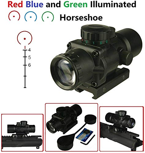 GOTICAL Rifle Scope 4 GOTICAL 3X30 3 Plus Compact Prism Scope RGB Horseshoe Reticle