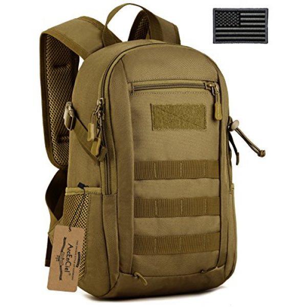 ArcEnCiel Tactical Backpack 1 ArcEnCiel Small Tactical Backpack Military MOLLE Daypack Gear Assault Pack School Camping Bag