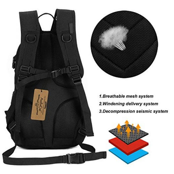 ArcEnCiel Tactical Backpack 3 ArcEnCiel Motorcycle Backpack Tactical Military Bag Army Assault Pack with Patch