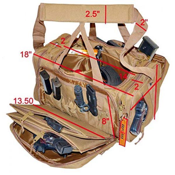 Explorer Tactical Backpack 2 EXPLORER Backpack + Range Bag with Large Padded Deluxe Tactical Divider and 9 Clip Mag Holder - Rangemaster Gear Bag (Brown Tan Range Bag)