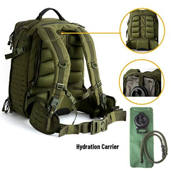 MT Tactical Backpack 4 MT Adventure 48H Military Rucksack MOLLE Tactical Assault Hydration Backpack