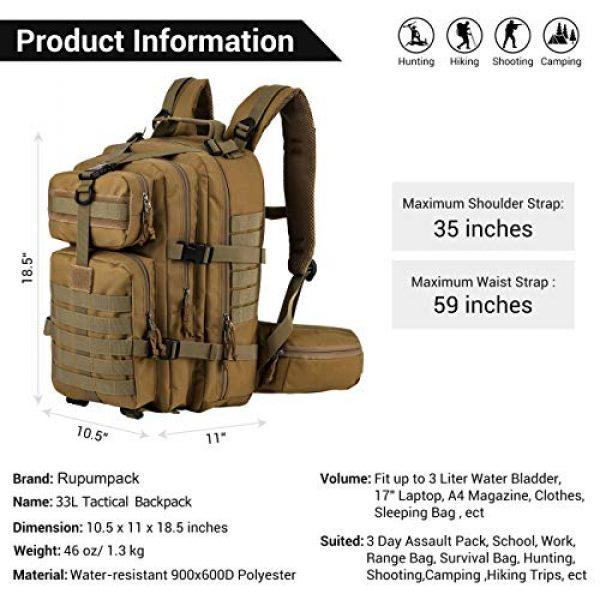 RUPUMPACK Tactical Backpack 4 RUPUMPACK Military Tactical Backpack Army MOLLE Hydration Bag 3 Day Rucksack Outdoor Hiking School Daypack 33L