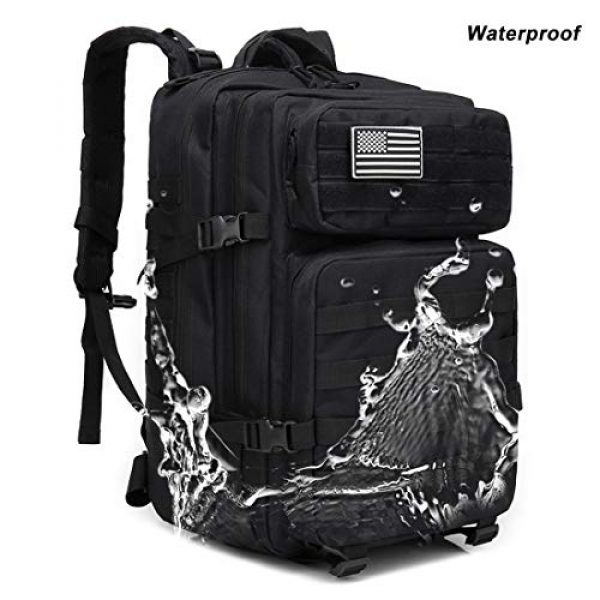 hopopower Tactical Backpack 6 hopopower Military Tactical Backpack Large Army 3 Day Assault Pack Molle Bag Backpack, 42L