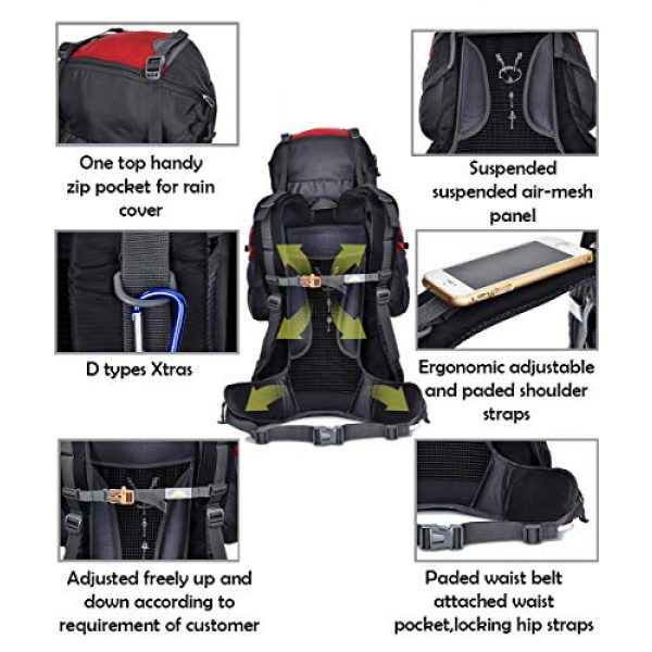 outdoor plus Tactical Backpack 4 outdoor plus Backpacking Backpack, 60L/65L/70L/85L Waterproof MOLLE Rucksack Hiking Hunting