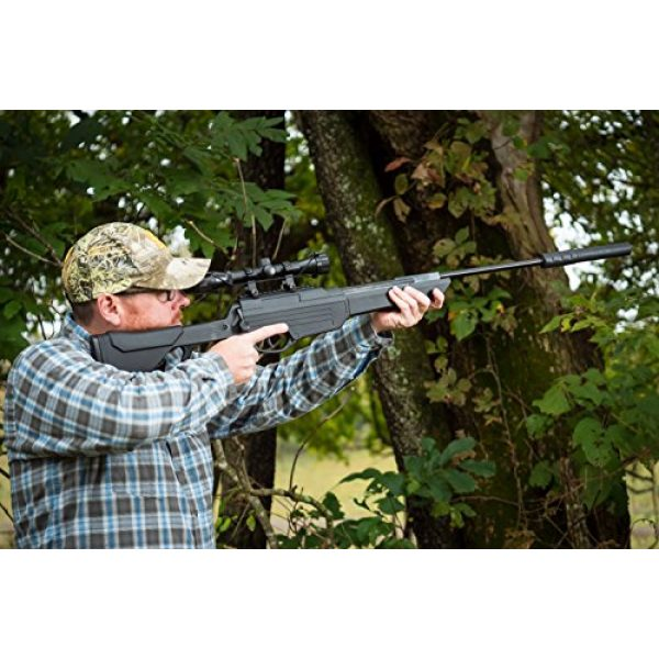 Bear River Air Rifle 7 Bear River TPR 1300 Suppressed Hunting Air Rifle - .177 Airgun - Pellet Gun with Scope and Silencer Included