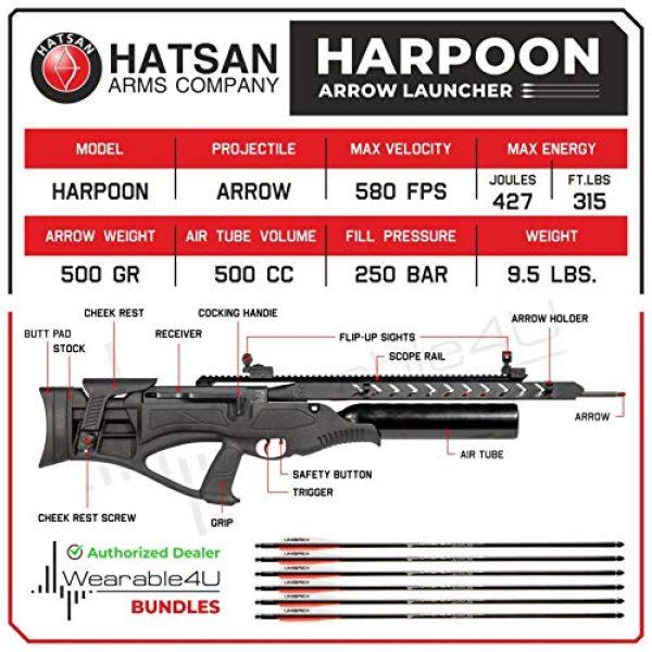 Wearable4U Air Rifle 2 Hatsan Harpoon Arrow Air Rifle with Included Carbon Fiber Arrows and Wearable4U 100x Paper Targets Bundle