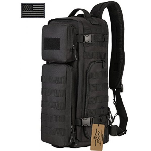 ArcEnCiel Tactical Backpack 1 ArcEnCiel Tactical Sling Pack Military Molle Chest Crossbody Shoulder Bags With Patch