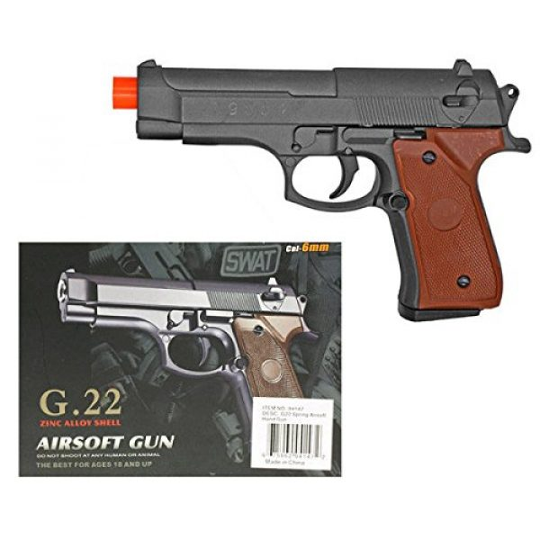 Ecal Airsoft Pistol 1 Metal Airsoft Pistol with Wood Grips 230 FPS 6.5 Inches Long