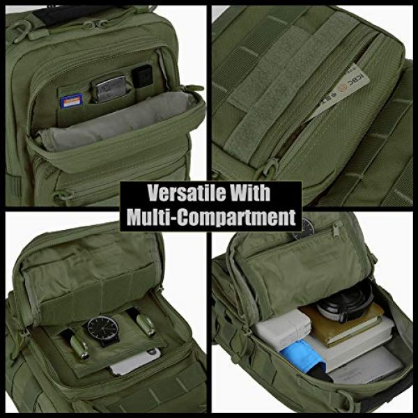 QT&QY Tactical Backpack 5 QT&QY Tactical Sling Bag for Men Small Military Rover Shoulder Backpack EDC Chest Pack Molle Assault Range Bag