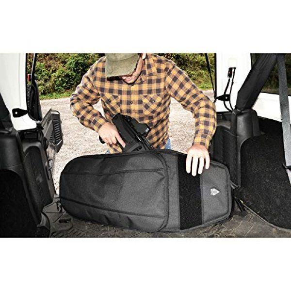 "UTG Tactical Backpack 3 UTG 34"" Alpha Battle Carrier Rapid Deployment Pack, Black (PVC-PSP34B)"