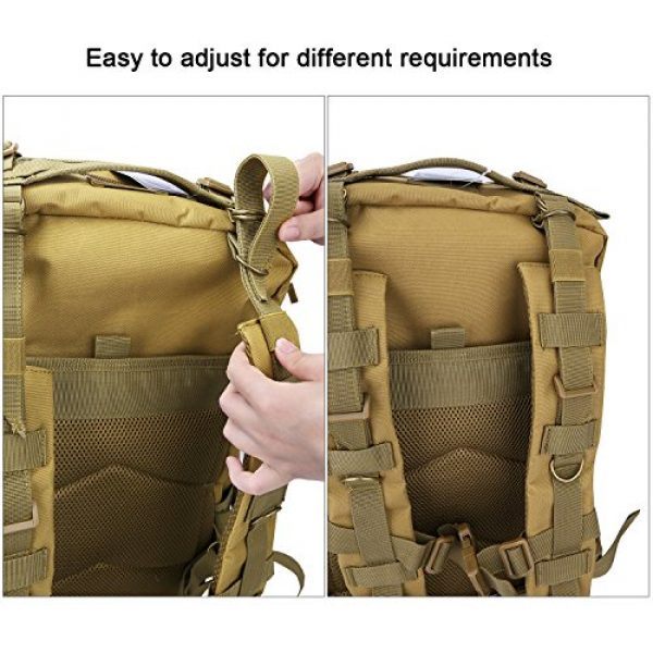 G4Free Tactical Backpack 6 G4Free Tactical Shoulder Backpack Military Survival Pack Army Molle Bug Out Bag Surplus Backpack 35L
