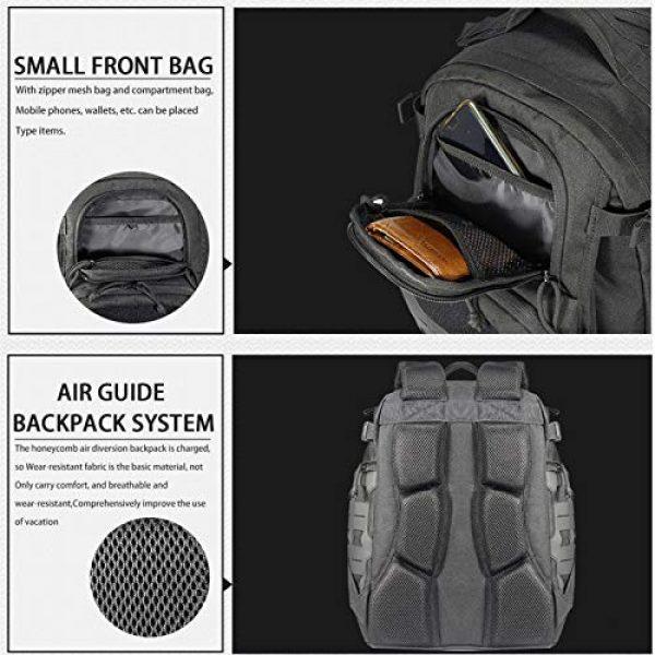 vAv YAKEDA Tactical Backpack 4 vAv YAKEDA Military Tactical Backpack for Men Army 3 Day Assault Pack 42L Large Molle Hiking Backpack