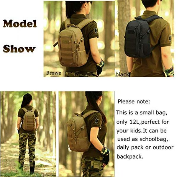 CREATOR Tactical Backpack 6 12L Tactical Backpack MOLLE Military Daypack Travel Bag for Hunting