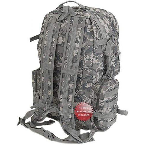 NPUSA Tactical Backpack 4 NPUSA Mens 22 Inch Large Military Tactical Gear Molle Hydration Ready Hiking Backpack Bag + Flashlight