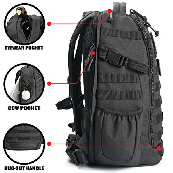 14er Tactical Tactical Backpack 2 14er Tactical Backpack   35L Rucksack, 3-Day Bug Out Bag   YKK Zippers & MOLLE