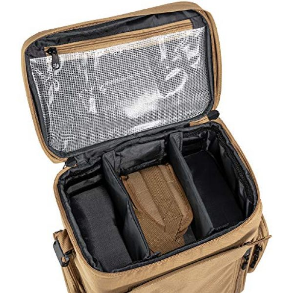"""Calissa Offshore Tackle Tactical Backpack 5 Calissa Offshore Tackle Backpack -""""Apollo 2"""" Tactical Rolling Pistol Case Gun Range Bag for Shooting Gear, Ammo, Hunting Supplies, Firearms Storage, Fishing Equipment """" 5 Pouch Compartment Organizer"""