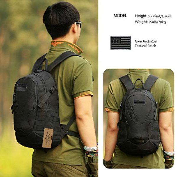 ArcEnCiel Tactical Backpack 2 ArcEnCiel Motorcycle Backpack Tactical Military Bag Army Assault Pack with Patch