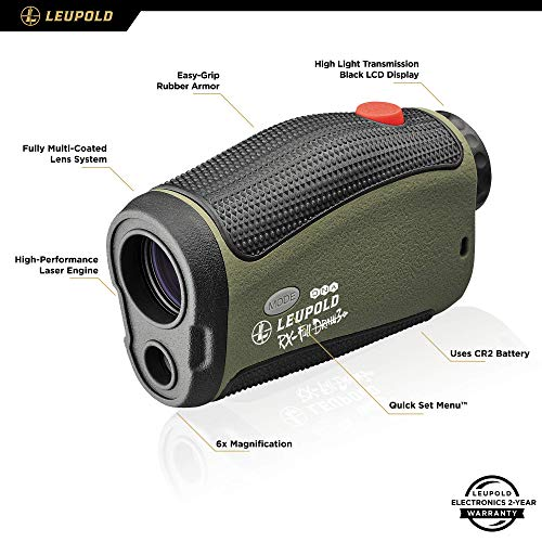 Leupold Rifle Scope 3 Leupold RX-FullDraw 3 Laser Rangefinder, Green, 6x (174557)