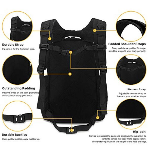 Mardingtop Tactical Backpack 5 Mardingtop 25L/35L/40L Tactical Backpacks Molle Hiking daypacks for Motorcycle Camping Hiking Military Traveling