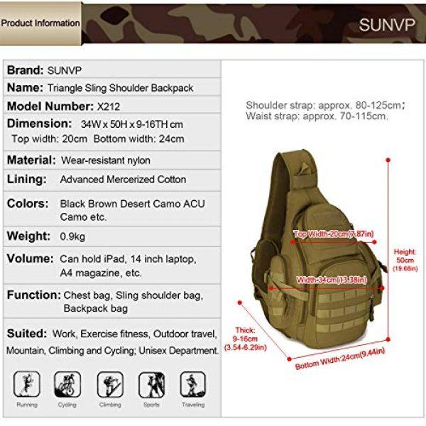 Huntvp Tactical Backpack 2 Huntvp Tactical Sling Backpack Military Daypack Molle Chest Shoulder Bag