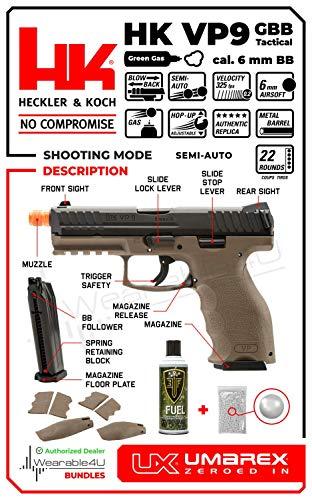Wearable4U Airsoft Pistol 4 Wearable4U Umarex H&K VP9 Tactical GBB(VFC) Airsoft Pistol GBB Air Soft Gun Bundle