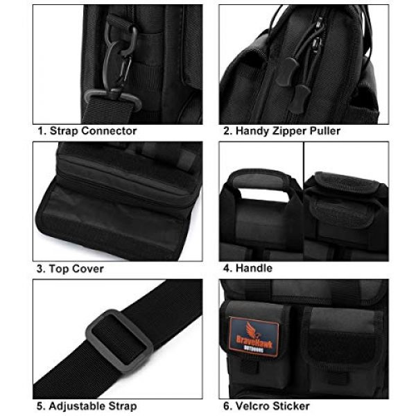 BraveHawk OUTDOORS Tactical Backpack 5 BraveHawk OUTDOORS Tactical Briefcase Messenger Bag, 800D Military Nylon Oxford Laptop Crossbody Shoulder Bag Handbag Daypack