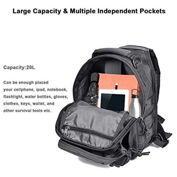 HAOMUK Tactical Backpack 5 Tactical Sling Bag Pack Military Rover Shoulder Sling Backpack EDC Molle Assault Range Bag
