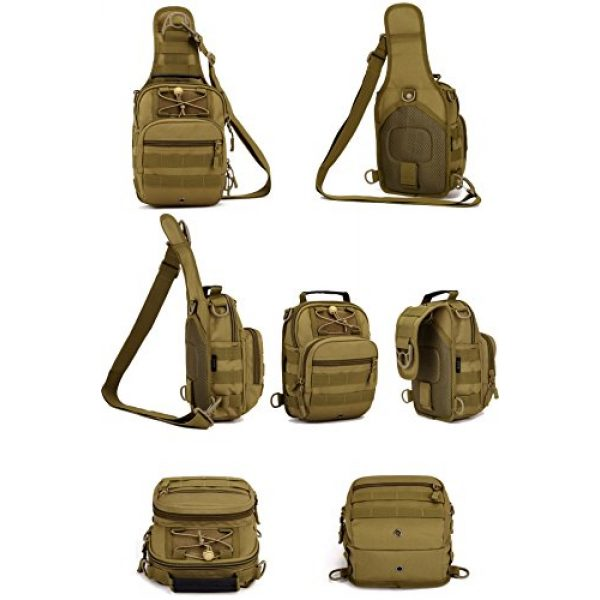 Huntvp Tactical Backpack 5 Huntvp Tactical Military Sling Chest Daypack Backpack for Hunting, Camping and Trekking