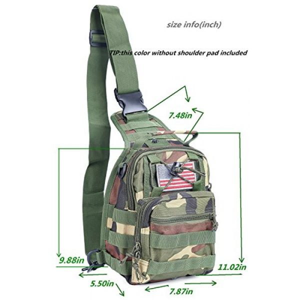 boxuan Tactical Backpack 2 Boxuan warehouse Outdoor Tactical Shoulder Backpack+flag patch, Military & Sport Bag Pack Daypack for Camping, Hiking, Trekking, Rover Sling,chest bag Multi-Size Options (green camouflag, s)