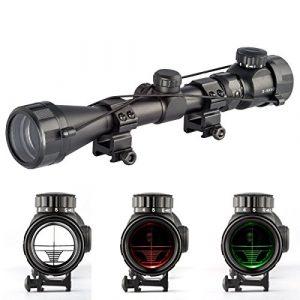 Gazelle Trading Rifle Scope 1 Aukmont 3-9X40 Red & Green Sniper Hunting Rifle Airgun Scope Telescopic Sight Illuminated 20mm Rail Mounts