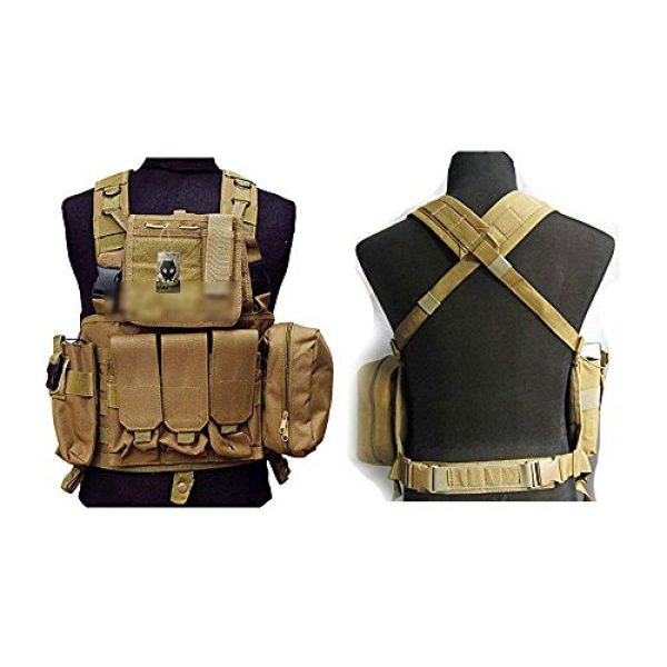 ATAIRSOFT Airsoft Tactical Vest 1 ATAIRSOFT Tactical Airsoft Paintball MOLLE RRV Assault Military Hunting Vest with Pouches
