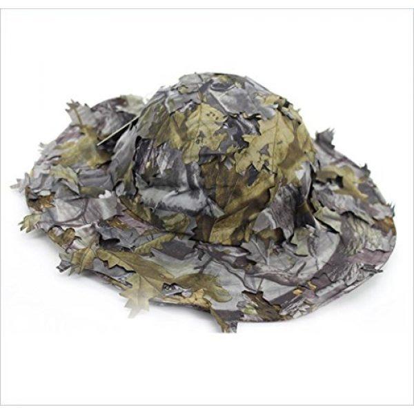 Wildoor Tactical Hat 1 Wildoor Boonie Hats for Men 3D Leaves Camo Tactical Cap for Hunting Fishing Sunshade
