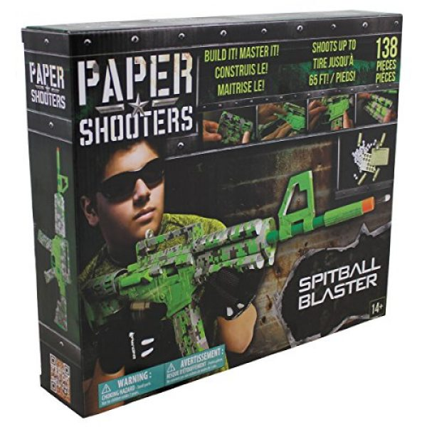 Paper Shooters Air Rifle 2 Paper Shooters Lime Green Spitball Blaster Kit air rifle