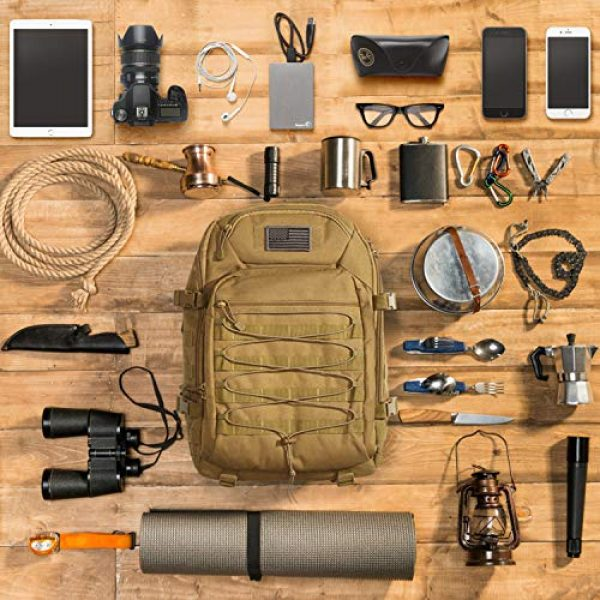 G4Free Tactical Backpack 6 G4Free Expandable Tactical Backpack Military Shoulder Pack 45L-50L Army Molle 3 Day Assault Rucksack