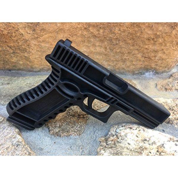 GARRET MACHINE Rubber Training Pistol Blue Gun 2 GARRET MACHINE Plastic Inert Training Pistol Compatible with Glock (Black, 17)