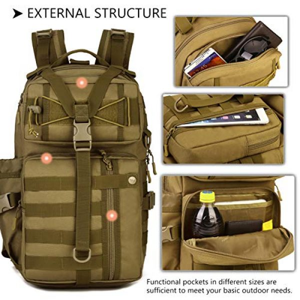 Protector Plus Tactical Backpack 6 Protector Plus Tactical Motorcycle Backpack Small Military MOLLE Cycling Hydration Daypack (Rain Cover & Patch Included)