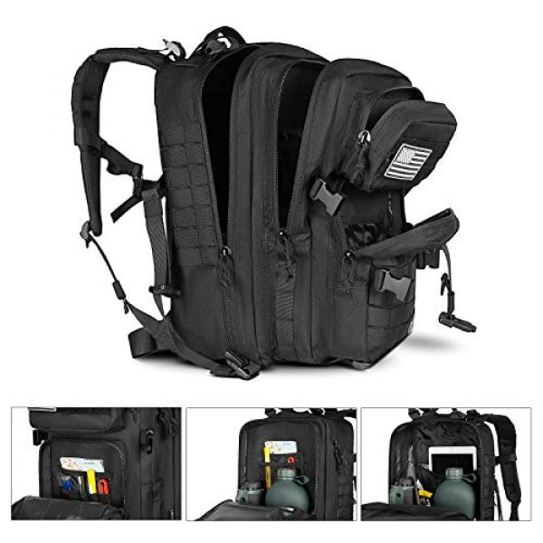 LeisonTac Tactical Backpack 5 LeisonTac 42L Tactical Backpack Military ISO Standard with Hydration Bladder Compartment