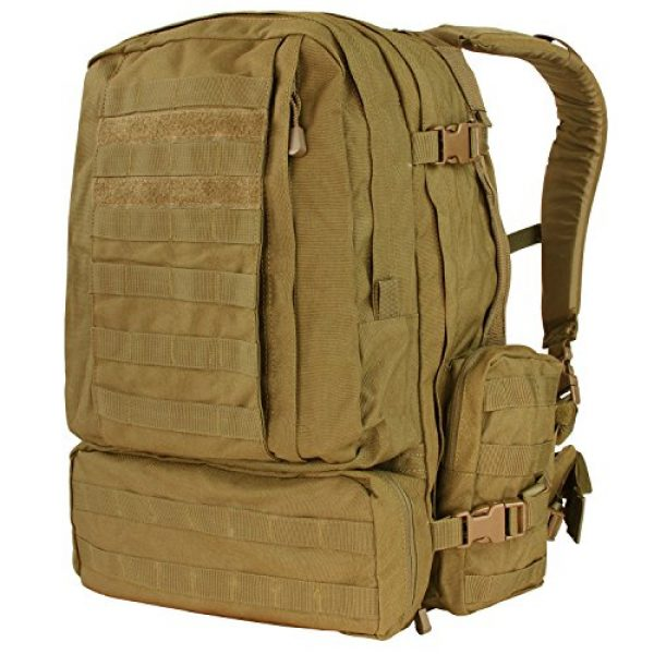 Condor Tactical Backpack 1 Condor Outdoor Products 3 Day Assault Pack, Coyote Brown