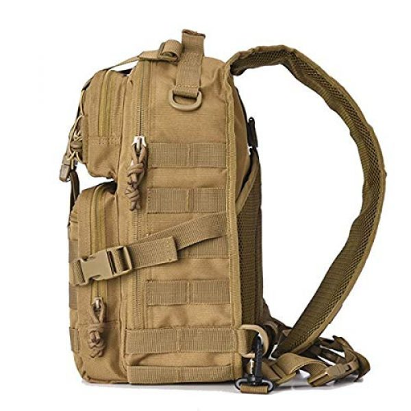 GUGULUZA Tactical Backpack 2 GUGULUZA Tactical Sling Bag,EDC Shoulder Backpack, Crossbody Molle Assault Range Bag for Hunting Camping Trekking
